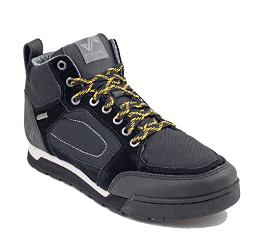 Clyde Men's Hiking Forsake Shoe Waterproof Black Leather 4qxRR8d