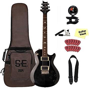 PRS SE Tremonti Custom guitarra eléctrica, Gris Negro, 2017, con funda y set de accesorios: Amazon.es: Instrumentos musicales