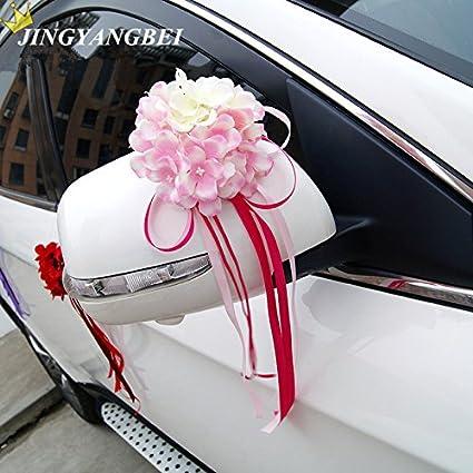 Buy Pinkdose B 2017 New Silk Hydrangearibbon Bowknot Flower Car