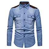 Spbamboo Clearance Sale Mens Outwear Vintage Distressed Demin Jacket Tops Coat
