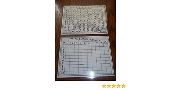 Amazon.com: Twin Pack Dry Erase Math Multiplication Table and ...
