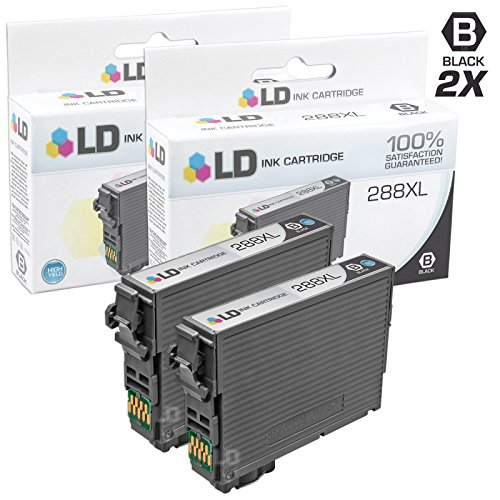 LD © Remanufactured Epson 288 / 288XL / T288120 / T288XL120 Set of 2 High Yield Black Ink Cartridges for use in Expression XP-330, XP-430, XP-434 & XP-440