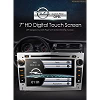 XTRONS Silver 7 HD Digital Touch Screen Dual CANbus GPS Navigator Car DVD Player with Screen Mirroring Function for Opel Vauxhall Zafira Astra Corsa Vectra Kudos Map Card Included