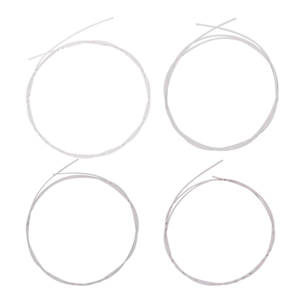Yibuy Silvery 4 Strings for Ukulele Nylon String E F D A