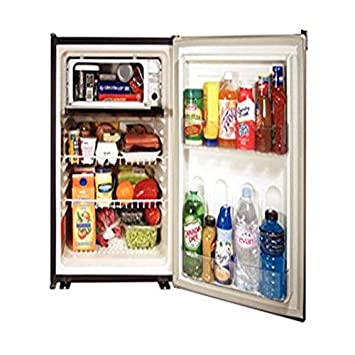 Norcold DE0788B 3.1 cu. ft. Refrigerator 120AC 12DC 24DC, with Fan and Black Door