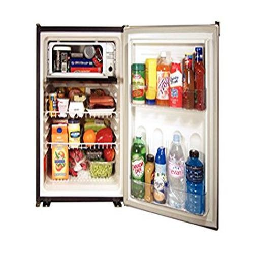 Refrigerator ft Norcold DE0788B 3.1 cu 120AC//12DC//24DC, with Fan and Black Door