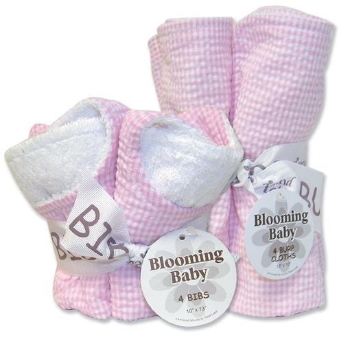 Trend Lab Bibs and Burp Cloths Bouquet Set - Seersucker