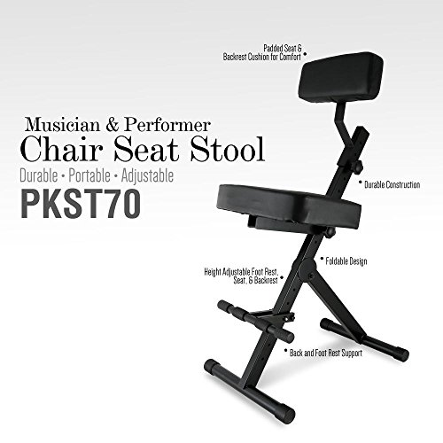 Pyle Pkst70 Durable Portable Adjustable Musician And