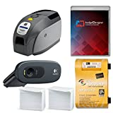 Zebra ZXP Series 3 Dual Sided ID Card Printer & Complete Supplies Package with SILVER badgeDesigner ID Software