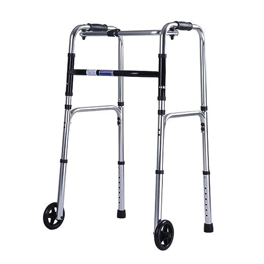 SXXDERTY-caminante Andador de Andador con Ruedas Plegable ...