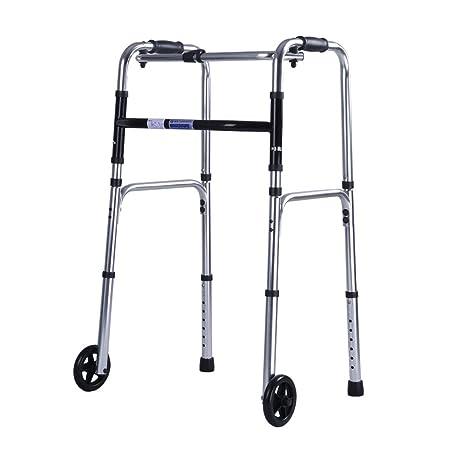SXXDERTY-caminante Andador de Andador con Ruedas Plegable con 2 ...
