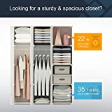 KOUSI Portable Clothes Closet Modular Plastic Wardrobe Freestanding Storage Organizer with doors, large space and sturdy construction, Black, 6 Cubes+2 Hanging Sections