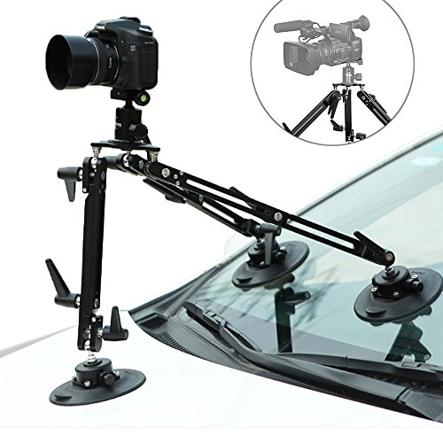 Vehicle Mount System - Selens Kaikoura SK1 Professional Gripper Car Suction Cup Camera Mount System for Moving Vehicle Photography Videography Equipment