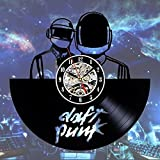 Daft Punk Art Vinyl Wall Clock Gift Room Modern Home Record Vintage Decoration