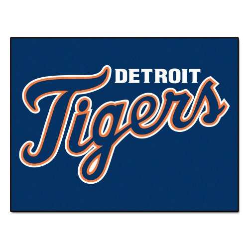- FANMATS MLB Detroit Tigers Nylon Face All-Star Rug