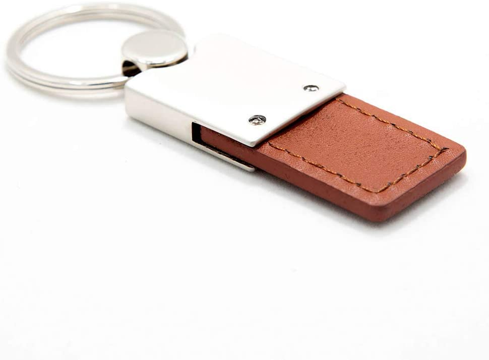 KC1740.EDG.BRN Duo Premium Brown Leather Au-TOMOTIVE Gold Compatible Keychain and Keyring for Ford Edge