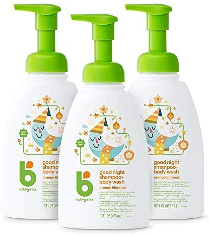 Baby Shampoo: Babyganics Night Time Shampoo + Body Wash