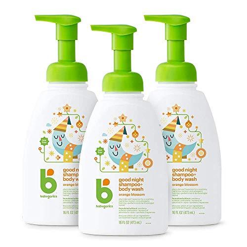 Babyganics Baby Shampoo + Body Wash Pump Bottle, Orange Blossom, 16oz, 3 Pack, Packaging May Vary