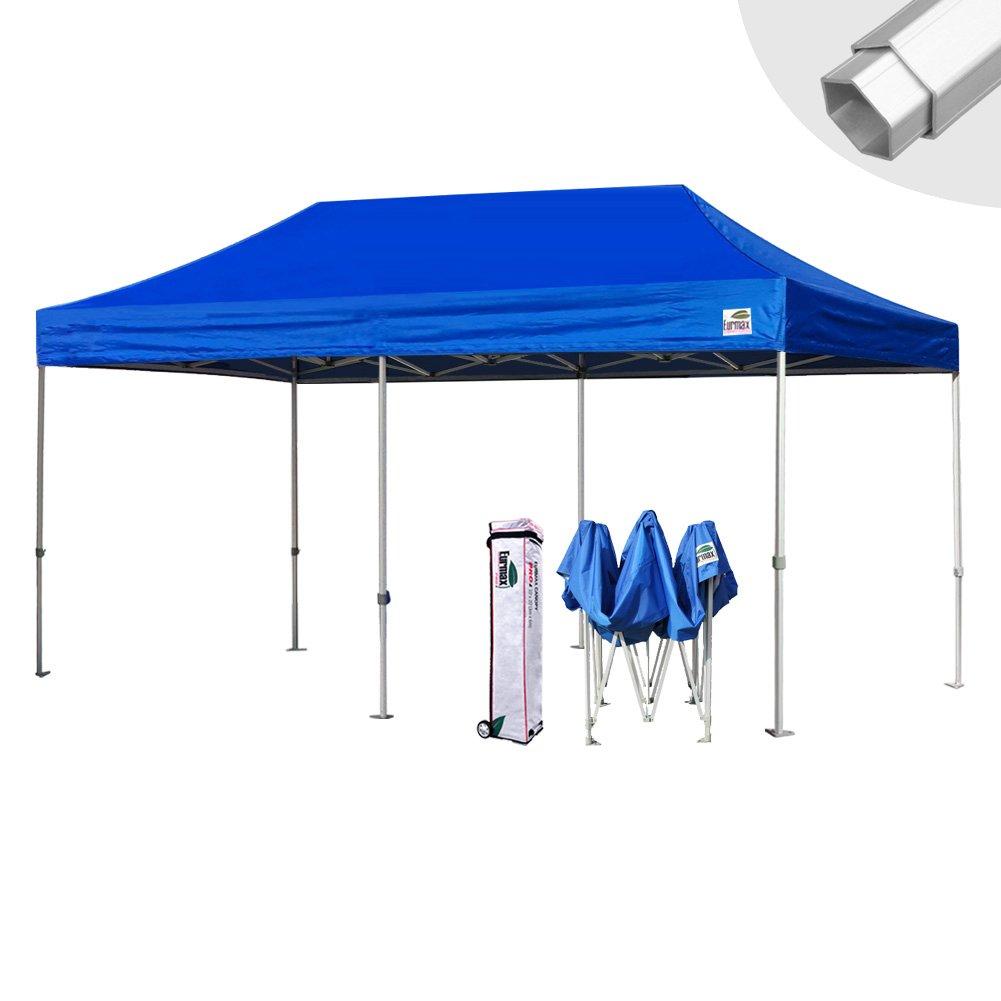Eurmax 10 x 20 Easy Pop Upキャノピーカーポートウェディングパーティーテントwithローラーバッグ B00C57ES1S ブルー ブルー
