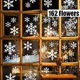 Sinwind 162 pegatinas navidad para ventanas, decoracion de navidad pegatinas ventana navidad adornos de navidad para…