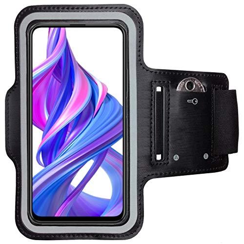 CoverKingz armtas voor Honor 9X Pro sportarmband met sleutelvak, looparmband fitness, mobiele telefoon armband zwart