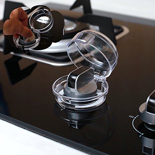 Kicode 2Pcs Kitchen Stove Oven Knob Cover Protection for Baby Kids Infant Children Safety White Protective Cap