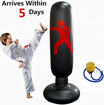 Amazon.com : Kuloveu Punching Bag for Kids, Heavy Inflatable ...