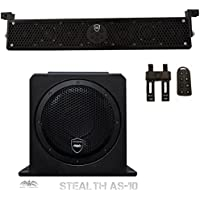 Wet Sounds Package - Black Stealth 6 Ultra HD Sound Bar w/ Remote and AS-10 10 500 Watt Powered Stealth Subwoofer