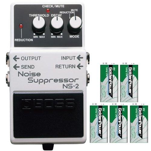 BOSS コンパクトエフェクター 原音には影響を与えずノイズを一掃。 +9Vマンガン電池5個付き NS-2(Noise Suppressor) B00GV5NI66