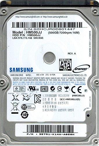 - Samsung HM500JJ SPINPOINT 500GB P/N: 35791-K14A-A050H