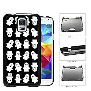 Ghost Silly Faces Cartoon Humor Hard Plastic Snap On Cell Phone Case Samsung Galaxy S5 SM-G900
