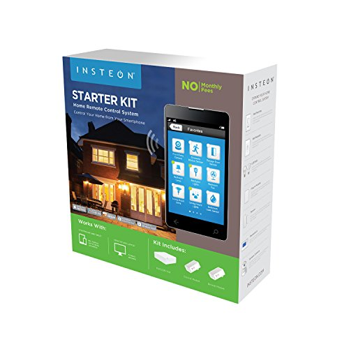 Insteon Smart Lamp + Hub Starter Kit, Includes 2 Smart Dimmer Plugs & Hub, Works with Alexa, Uses Superior Dual-Mesh Wireless Technology for Unbeatable Reliability, Better than Wi-Fi, Zigbee & Z-Wave