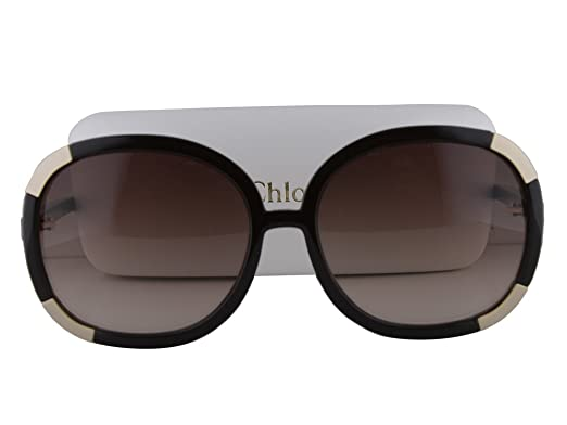 8110be1be9c Amazon.com  Chloe CL2119 Sunglasses Dark Brown w Brown Gradient Lens 210 CL  2119 For Women  Clothing
