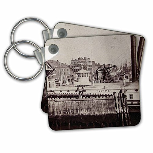 Scenes from the Past Magic Lantern Slides - New York City South Ferry Broadway Brooklyn Manhattan 1880s or 1890s - Key Chains - set of 6 Key Chains - York Broadway Of Images New