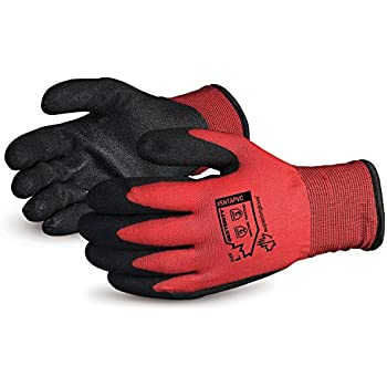 Superior Winter Work Gloves - Fleece-Lined with Black Tight Grip Palms (Cold Temperatures) SNTAPVC - Size Large