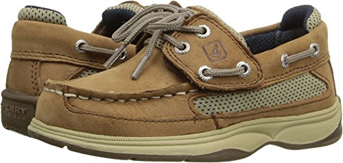 (SPERRY Kids Baby Boy's Lanyard A/C (Toddler/Little Kid) Dark Tan/Navy 7 M US Toddler)