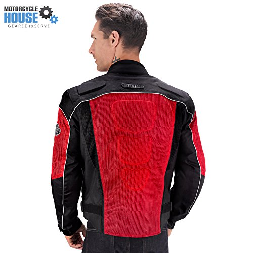 Red Motorcycle Jacket Men - 2