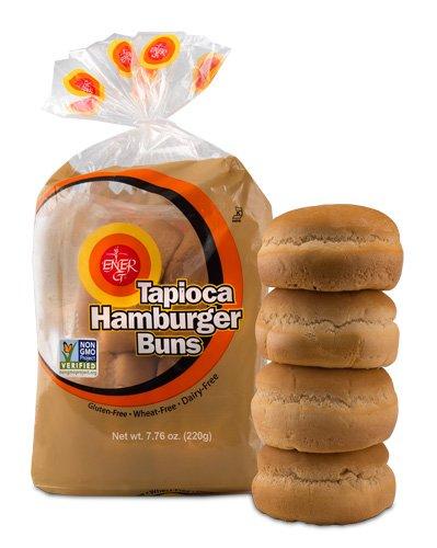 Ener-G Tapioca Hamburger Buns - 7.76 oz