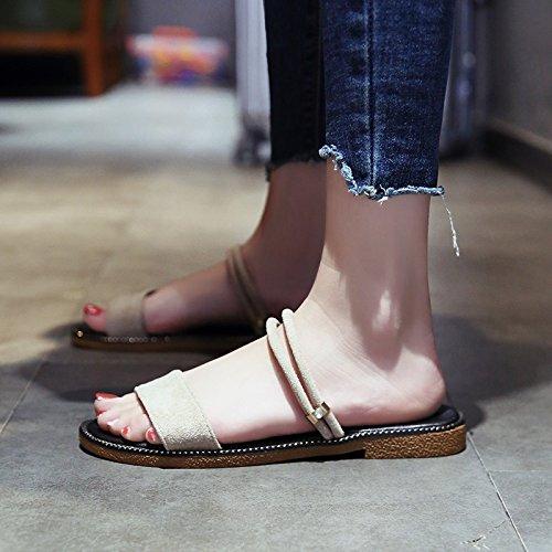 Moda Dedos Fondo Desgaste YMFIE de de La Plano Mujer de Verano A Nuevo de Sandalias zwzqaFx