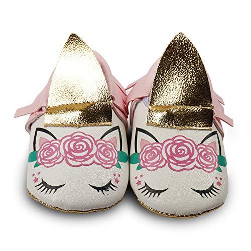 Newborn Girl Princess Shoes Anti-Slip Infant Toddler Mary Jane Shoes Premium Soft Sole Prewalker Shoes