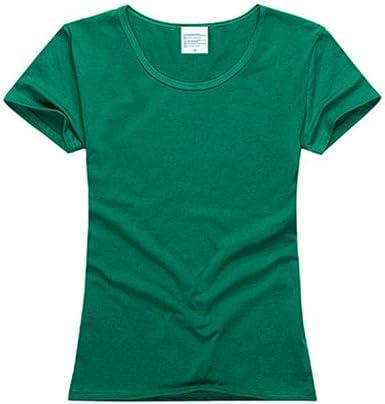 Grea Summer Plain T Shirt Mujer Algodón Elástico Camiseta básica ...