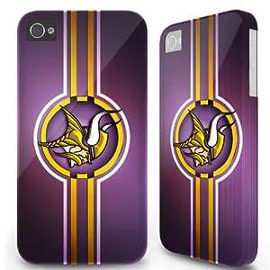 Iphone 4/4s Case Cover Skin - Sports team Minnesota Vikings Ribbon