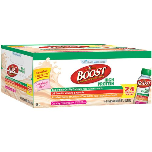 BOOST High Protein Drink - Strawberry - 24 pk. (pack of 6) by Nestle