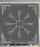 Yokii Alchemy Sign Symbol Alchemist Mystic Meditation Treatment Cure Health Eastern Science Spirit Zen Yoga Spa Decorations for Bathroom Gray and White Shower Curtain Home Decor