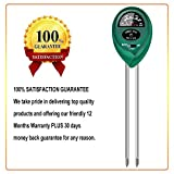 yoyomax Soil Test Kit pH Moisture Meter Plant Water Light Tester Testing Kits for Garden Plants