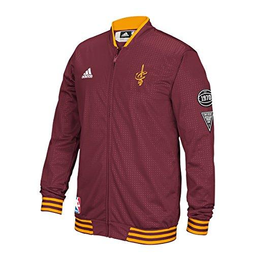 Cleveland Cavaliers Adidas 2015 NBA Men's On-Court Warm-Up Full Zip Jacket (Adidas Court Jacket)