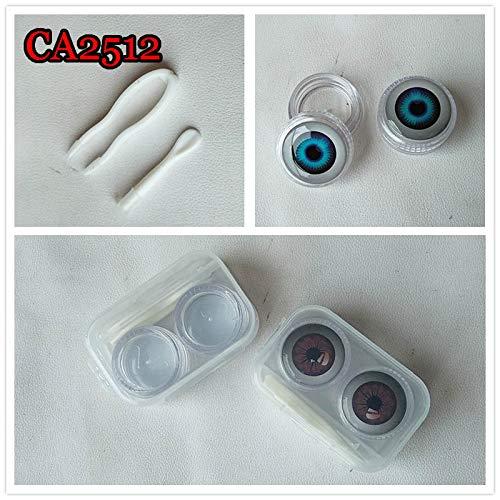CA2512 Anime Eyeball Deco Crystal Contact Lens case 2pcs