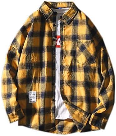 カジュアルシャツ メンズ 長袖 チェック柄 襟元 胸ポケット付き 格子シャツ ボタンダウンシャツ 長袖シャツ ワイシャツ ショート丈 オックスシャツ カラーシャツ ゆったり 快適 オーバーサイズ オールシーズン かっこいい