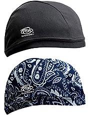 Shinobu Riders INVISTA Coolmax 2-Packs Quick Drying Helmet Skull Cap Beanie (One Size)