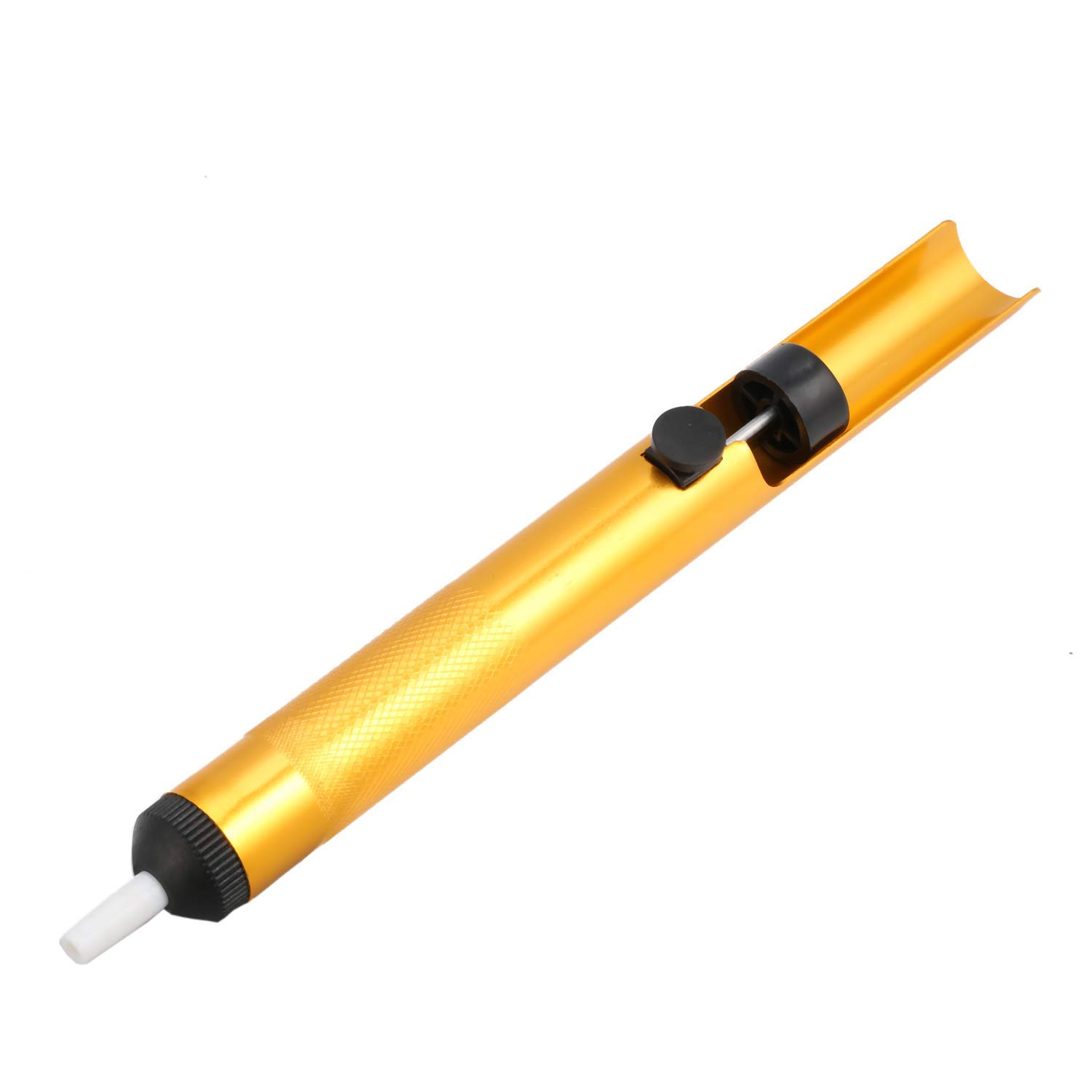 Gold IC SMD Pick up Vacuum Sucking Pen Remover Tool with 3 Suction Headers Lheng CMT-136 Semi-Metal Suction Tin Soldering Pen